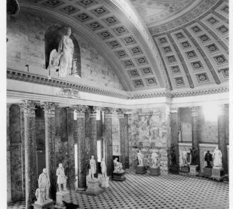 Statuary Hall with a new fireproof ceiling, ca. 1902.