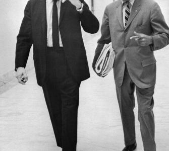 Representative Powell (left), with aide C. Sumner Stone