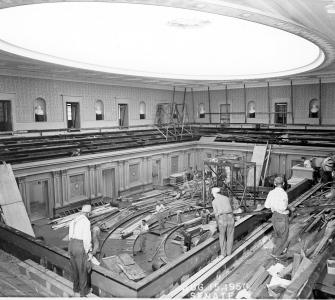 Remodeling the Senate Chamber, 1950