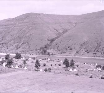 The Nez Perce establish a tribal campground in 1892.