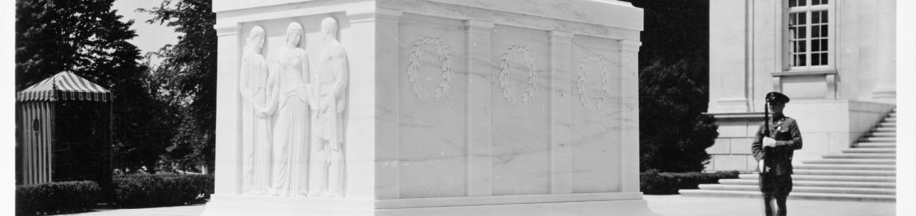 Unknown Soldier's Tomb with Sentry, Arlington National Cemetery