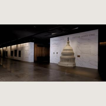 Exhibition Hall - The eleven-foot-tall touchable model of the Capitol Dome