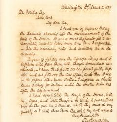 Letter from Thomas U. Walter to Charles Fowler, March 2, 1859