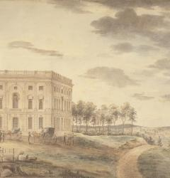 Watercolor View of the Capitol, by William Birch, ca. 1800