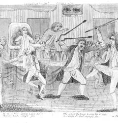 Congressional Pugilists, anonymous cartoon, 1798