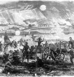 At Gettysburg, in 1863, the bloodiest battle of the Civil War