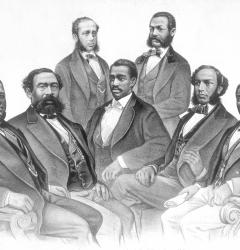 The First Colored Senator and Representatives