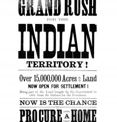 To encourage settlement of the West, the government opened former Indian reservation land to homesteaders.