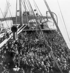 A new wave of European immigrants, fleeing hardships and lured by America's promise of prosperity, expanded the population.