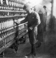 Photographer Lewis Hine documented child labor to urge passage of legislation protecting children from abuse.