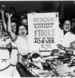 In the 1930s, workers around the country staged sit-down strikes to demand more favorable working conditions.