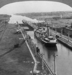 The U.S.-controlled Panama Canal, completed in 1913, was a shortcut between the Atlantic and Pacific oceans.