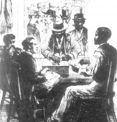 Election scene at Washington, June 3, 1867, sketched by A.W. M'Callum.