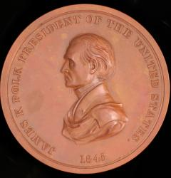 Peace Medal Issued by President James Polk, 1845
