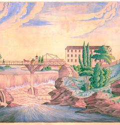 Pawtucket Bridge and Falls with Slater Mill