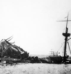 The 1898 explosion of the USS Maine in Havana, Cuba sparked the Spanish-American War.