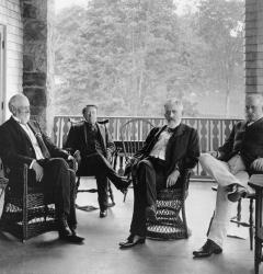 Orville Platt, John Spooner, William Allison, and Nelson Aldrich