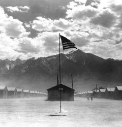 During World War II, the U.S. government interned approximately 110,000 Japanese Americans in camps like Manzanar in California.