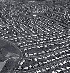 The 1950s witnessed a rush to the suburbs
