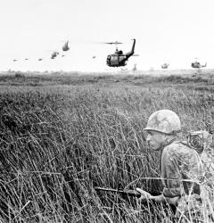 Helicopters dropped U.S. infantrymen into Vietnam's Mekong Delta