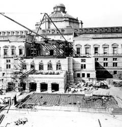 Construction of the Rare Book Room addition, Library of Congress, Thomas Jefferson Building, ca. 1931.Construction of the Rare Book Room addition, Library of Congress, Thomas Jefferson Building, ca. 1931.