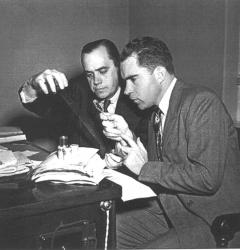 Richard Nixon (right) and staff investigator Robert Stripling