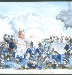 Capture of O'Brien's Guns at Buena Vista, by Samuel E. Chamberlain, ca. 1850s