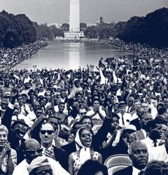 Thousands joined Martin Luther King, Jr. on the National Mall in 1963