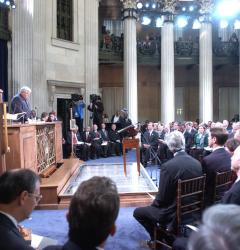 Members of Congress meet in special session in Federal Hall, New York City